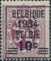Belgium 1934 Coat of Arms, Precanceled and Surcharged a.jpg