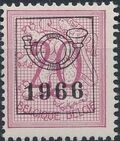 Belgium 1966 Heraldic Lion with Precancellations e