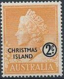 Christmas Island 1958 Queen Elizabeth II a