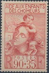 France 1939 Surtax for the Children of the Unemployed a