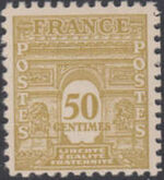 France 1944 Arc of the Triomphe - Allied Military Government c