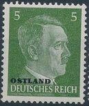 German Occupation-Russia Ostland 1941 Stamps of German Reich Overprinted in Black d