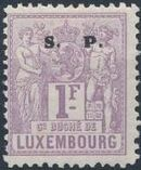 Luxembourg 1882 Industry and Commerce Overprinted l