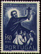 Portugal 1952 400th Anniversary of the Death of St. Francis Xavier c