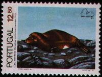 Portugal 1983 Brasiliana 83 - International Stamp Exhibition - Marine Mammals a