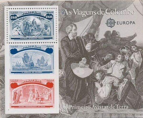 Portugal 1992 EUROPA - 5th Centenary of Discovery of America SSc
