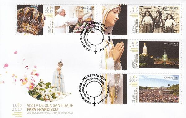 Portugal 2017 His Holiness Francis at the Celebration of the Centennial of the Apparitions at Fatima FDCa