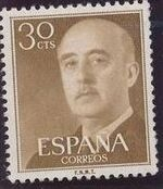 Spain 1955 General Franco e