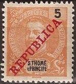 St Thomas and Prince 1911 D. Carlos I Overprinted b