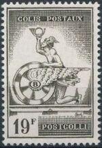 Belgium 1957 Mercury and Winged Wheel b
