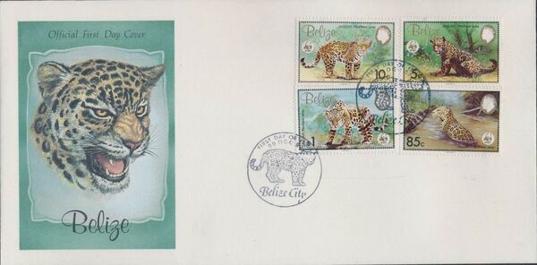 Belize 1983 WWF - Jaguar FDCf