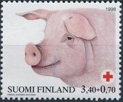 Finland 1998 Red Cross Fund - Pigs c