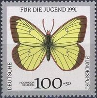 Germany-Unified 1991 Endangered Butterflies g