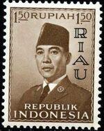Indonesia-Riau 1960 President Sukarno - Definitives b
