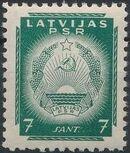 Latvia 1940 Arms of Soviet Latvia e