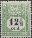 Luxembourg 1907 Postage Due Stamps c