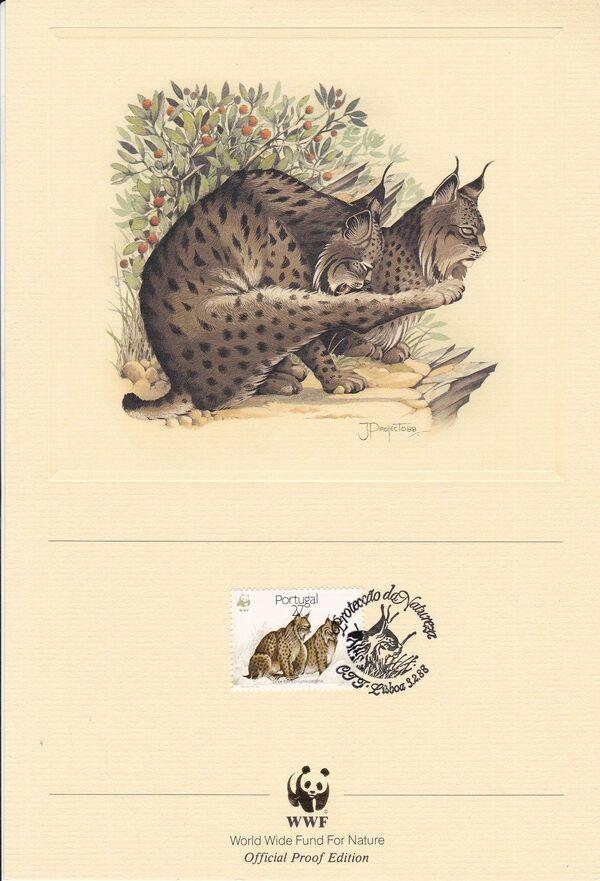 Portugal 1988 WWF Iberian Lynx (Lynx pardina) OPEc