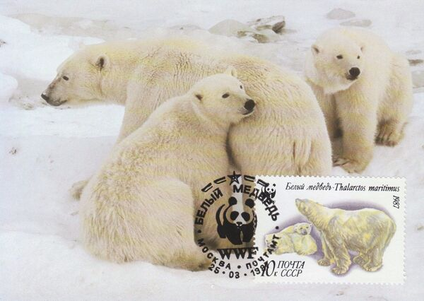 Soviet Union (USSR) 1987 WWF - Polar Bears MCb