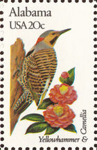 United States of America 1982 State birds and flowers a