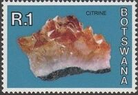 Botswana 1974 Rocks and Minerals m