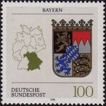 Germany, Federal Republic 1992 Coat of Arms of the Federal States of Germany (1st Group) b