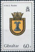 Gibraltar 1982 Royal Navy Crests 1st Group d