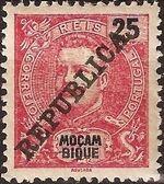 Mozambique 1911 D. Carlos I Overprinted f