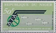 Niger 1963 First anniversary of Air Afrique and new DC-8 service a