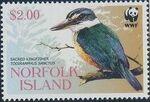 Norfolk Island 2004 WWF Sacred Kingfisher d