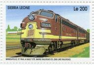 Sierra Leone 1995 Railways of the World h