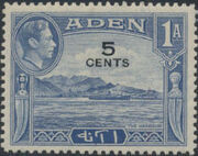 Aden 1951 King George VI Pictorials with New Values a