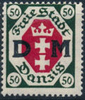 """Danzig 1921 Issues from 1921-1922 Overprinted """"D M"""" h"""