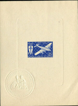 French Somali Coast 1941 Airmail l