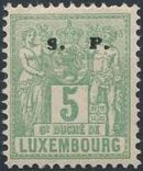 Luxembourg 1882 Industry and Commerce Overprinted d