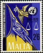 Malta 1970 25th Anniversary of the United Nations c