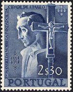 Portugal 1954 400th Anniversary of Founding of Sao Paulo, Brazil b