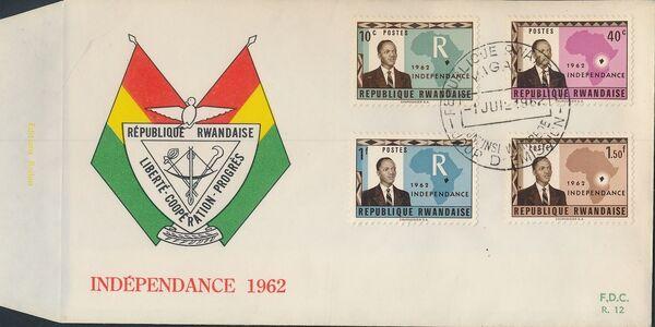 Rwanda 1962 Independence FDCa