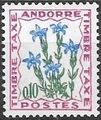 Andorra-French 1965 Flowers - 2nd Group (Postage Due Stamps) b.jpg