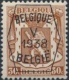 Belgium 1938 Coat of Arms - Precancel (5th Group) d