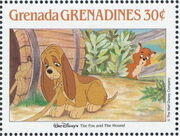 Grenada Grenadines 1988 The Disney Animal Stories in Postage Stamps 2d