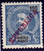 Lourenço Marques 1911 D. Carlos I Overprinted i