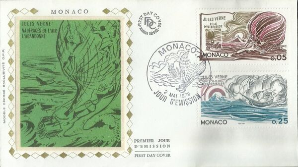 Monaco 1978 Birth Sesquicentennial of Jules Verne FDCa