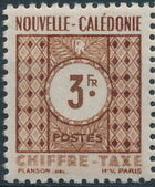 New Caledonia 1948 Numerals (Official Stamps) f