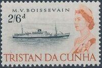 Tristan da Cunha 1965 Queen Elizabeth II and Ships k