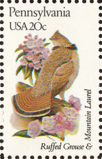 United States of America 1982 State birds and flowers zj