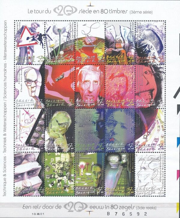 Belgium 2001 The 20th Century III - Science and Technology Sb