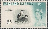 Falkland Islands 1960 Queen Elizabeth II and Birds m