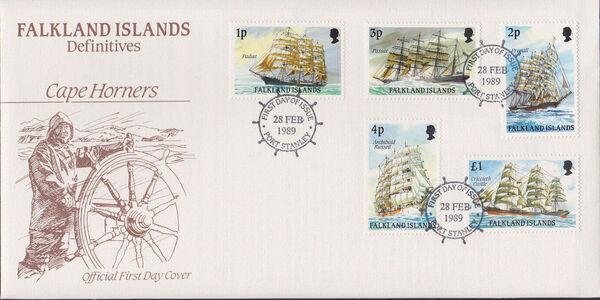 Falkland Islands 1989 Ships of Cape Horn FDCa