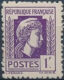 France 1944 Series d'Algiers (Cock of Alger and Marianne of Fernez) l