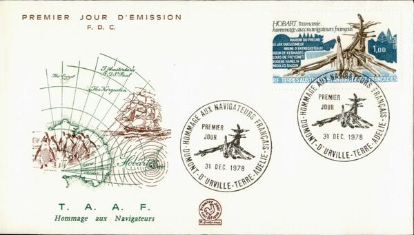 French Southern and Antarctic Territories 1978 Tribute to French Navigators and Explorers FCa